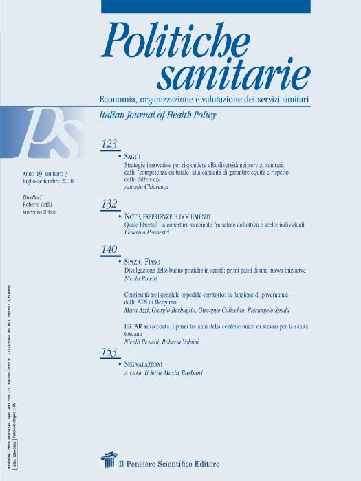 2018 Vol. 19 N. 3 Luglio-Settembre